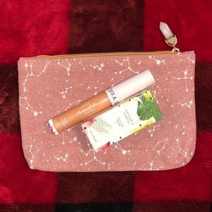 Ipsy Makeup Bag (Constellations) & 2 makeup items